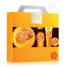 The Body Shop Honeymania Kit rinkinys moterims, (200ml Honeymania kūno sviestas + 250ml Honeymania dušo želė + 30ml Honeymania rankų kremas + 10ml Honeymania Lip Balm)