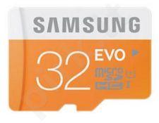 Atminties kortelė Samsung Evo microSDHC 32GB CL10, Skaitymas iki 48MBs