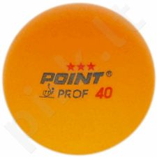 Stalo teniso kamuoliukai POINT Pin*** Prof 40 3vnt geltona