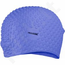 Maudymosi kepuraitė  Aqua-Speed silikonowy Bubble 10 tamsiai mėlyna