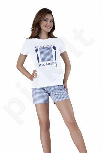 Babella pižama su šortukais mėlynos spalvos 3011 (limituota versija)