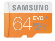 Samsung memory card micro SDXC 64GB Class 10 Evo (transfer up to 48MB/s)