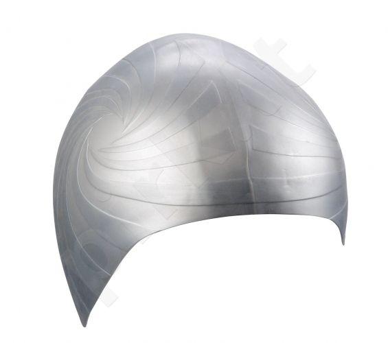 Kepuraitė plaukimui unisex silikoninė 7393 11 silver