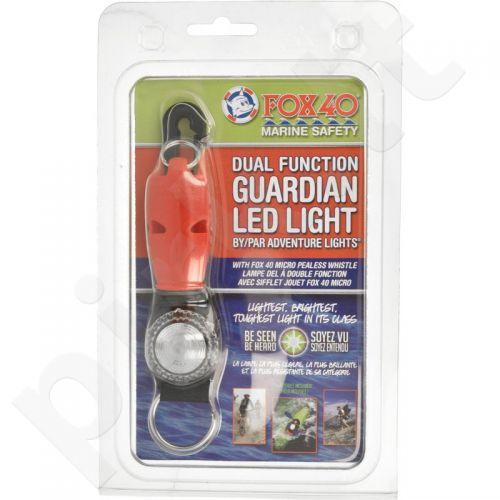 Švilpukas Fox 40 Marine Safety S216354 raudonas + led lemputė