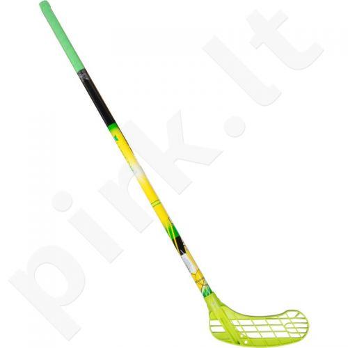 Grindų riedulio lazda Force One 95cm dešinė žalia