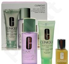 Clinique (50 ml Liquid Facial Soap Mild + 100 ml Clarifying Lotion 2 + 30 ml DD ml) 3step Skin Care System2, rinkinys moterims