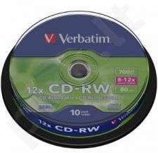 CD-RW Verbatim [ cake box 10 | 700MB | 12x ]