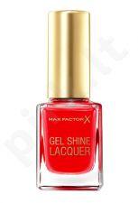 Max Factor Gel Shine, nagų lakas moterims, 11ml, (25 Patent Poppy)