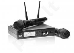 Live Star UX2 dviejų kanalų bevielis radijo mikrofonų (2vnt) komplektas 863.425 MHz, 864.9 MHz