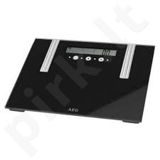 AEG PW 5571 FA Bathroom scale, Up to 150 kg, Graduation 100g, Memory for up to 10 different users, Black