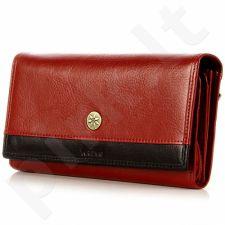 KRENIG Scarlet 13015 raudona Odinė piniginė moterims