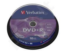 DVD+R Verbatim [ cake box 10 | 4.7GB | 16x | matte silver ]