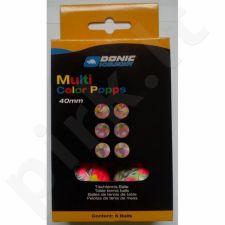 Stalo teniso kamuoliukai DONIC Multicolor Popps 6 vnt
