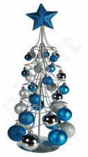 Metalinė Kalėdinė eglutė su 30 burbuliukų ir žvaigžde