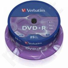 DVD+R Verbatim [ cake box 25 | 4.7GB | 16x | matte silver ]