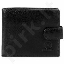 KRENIG Classic 12030 - Ekskliuzyvinė juoda Odinė piniginė vyrams