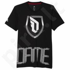 Marškinėliai Adidas Dame Fighter Damian Lillard M AJ1764
