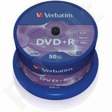 DVD+R Verbatim [ cake box 50 | 4.7GB | 16x | matte silver ]