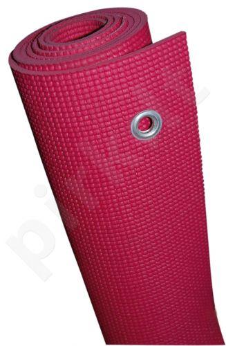 Kilimėlis gimnastikai GYM MAT 170x60x0,5cm PVC rožini
