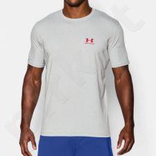 Marškinėliai treniruotėms Under Armour Sportstyle Left Chest Logo M 1257616-025
