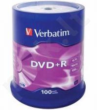 DVD+R Verbatim [ cake box 100 | 4.7GB | 16x | matte silver ]