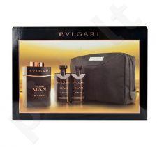 Bvlgari Man In Black rinkinys vyrams, (EDP 100ml + 75ml losjonas po skutimosi + 75ml dušo želė + kosmetikos krepšys)