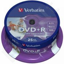 DVD+R Verbatim [ cake box 25 | 4.7GB | 16x | spausdinimui Retail Wide ]