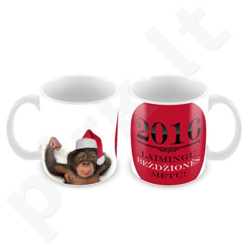 """Puodelis """"Laimingų beždžionės metų!"""""""