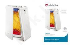 Samsung Note 3 dėklas FLIP BOOK Cellular baltas