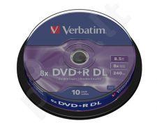 DVD+R DL Verbatim [ cake box 10 | 8.5GB | 8x | matte silver ]