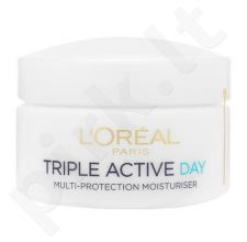 L´Oreal Paris Triple Active dieninis kremas Normal Skin, kosmetika moterims, 50ml