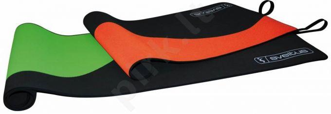 Kilimėlis gimnastikai WAVE MAT 130x55x0,5 juodas/oran
