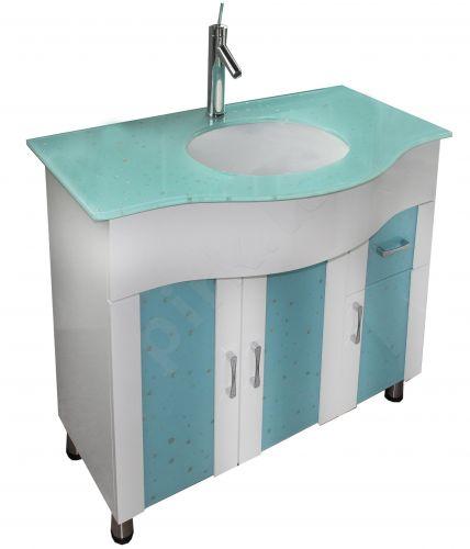 Vonios kambario spintelė su praustuvu RAING 100