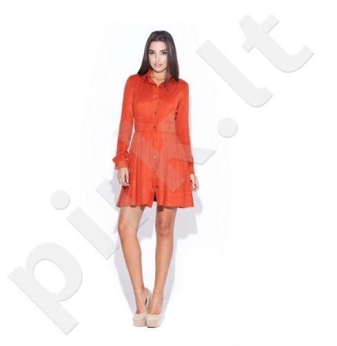 PREKĖ ŽEMIAU SAVIKAINOS! Suknelė K045 oranžinio atspalvio dydis L