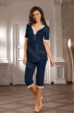 Pižama SELENA (tamsiai mėlynos spalvos) (dydžiai ik 3XL)
