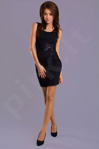 Emamoda suknelė - juoda 7202-2