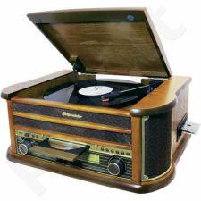 Retro stiliaus muzikinė sistema su patefonu Roadstar HIF-1990BT