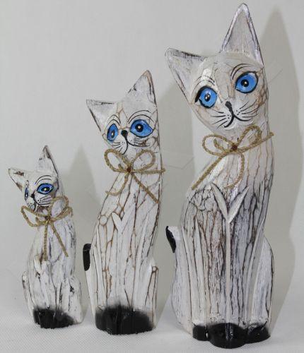 Medinės statulėlės 3 Katės 105350