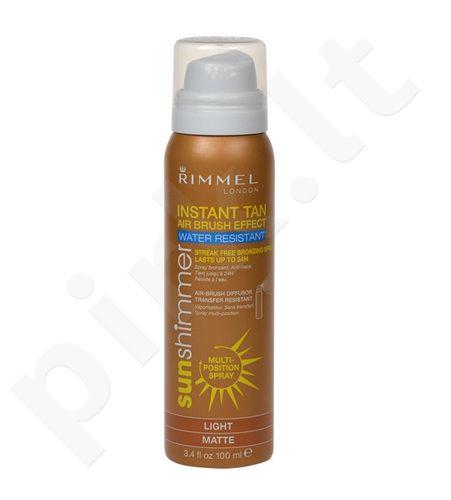 Rimmel London Sun Shimmer Instant Tan Water Resistant, kosmetika moterims, 100ml, (Light Matte)