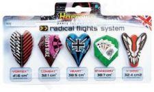 Strėlyčių sparnelių komplektas HARROWS Radical