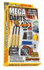 Rinkinys HARROWS Mega darts, metal.