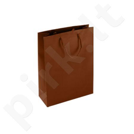 Dovanų maišelis 18x8x23cm rudas