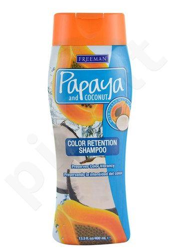 Freeman Color Retention shampunas Papaya And Coconut, kosmetika moterims, 400ml