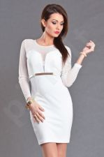 EMAMODA Suknelė - balta spalva 5704-3