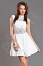 EMAMODA Kokteilinė suknelė - balta spalva 4906-4
