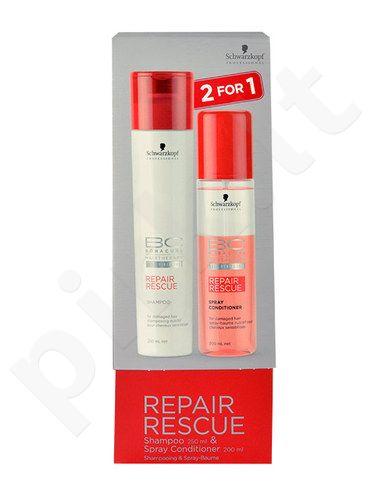 Schwarzkopf BC Bonacure Repair Rescue, rinkinys šampūnas moterims, (250ml Repair Rescue šampūnas + 200ml Repair Rescue purškiamas kondicionierius)