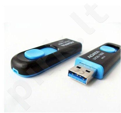 Atmintukas Adata UV128 16GB USB3, Be dangtelio, Ištraukiamas, Juodai mėlynas